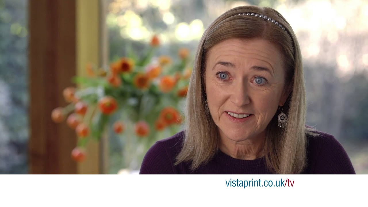 vistaprint tv advert 100 business cards susan vistaprint