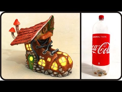 ❣DIY Boot Fairy House Lamp Using a Coke Plastic Bottle❣