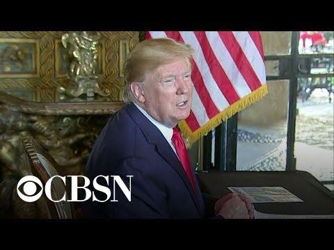 President Trump calls troops, talks impeachment on Christmas Eve