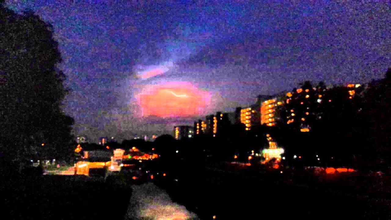 Red Lightning Storm