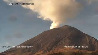Transmisión del Volcán Popocatépetl Julio 2020