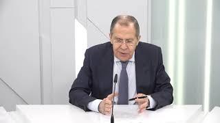 Пресс-конференция С.Лаврова по итогам заседания СМИД ОДКБ в формате видеоконференции,Москва, 26 мая