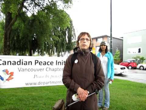 "Vancouver's ""Walk For Peace"" of 2012 - ""Canadian Peace Initiative"" Interview"