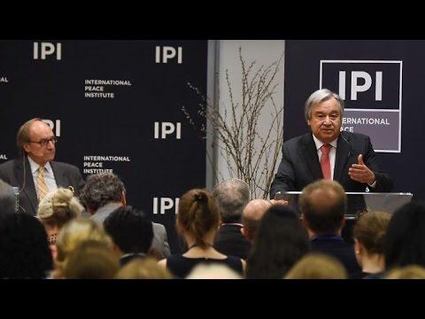 UN Secretary-General Candidate António Guterres Speaks at IPI