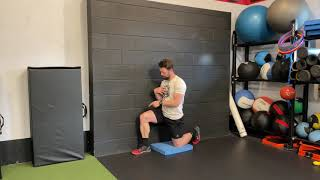 Wall Supported Windmill - Shoulder and T- Spine Mobility - 1/2 Kneel