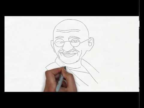 Mahatma gandhi easy drawing of mahatma gandhi