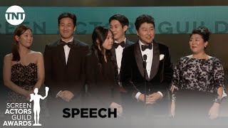 Parasite: Award Acceptance Speech | 26th Annual SAG Awards | TNT