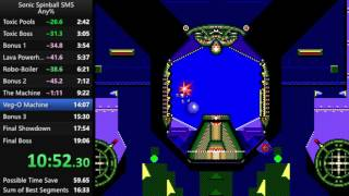 Sonic Spinball SMS Speedrun in 15:51 [Current World Record]