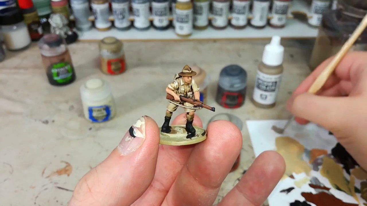 Speed Painting WWII Infantry with Citadel Contrast Paints ...