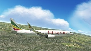 X-Plane 11 - B737 MAX Ethiopian Airlines, Takeoff from Addis Ababa (HAAB)
