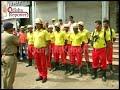 Mock drill by fire men in Bhubaneswar