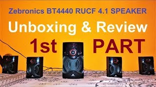 Zebronics BT4440RUCF 4.1 Bluetooth Speakers - Part 1: Unboxing & Review | Som Tips