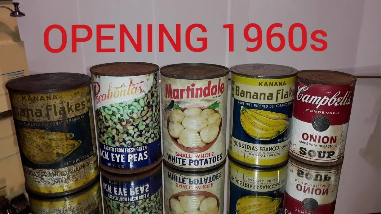 55 Year Old Canned Foods, Opening decades-old Canned Foods 3