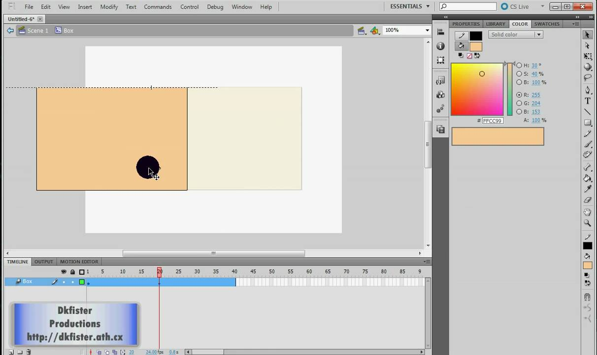 Adobe Flash Tutorial How To Make A Symbol Youtube