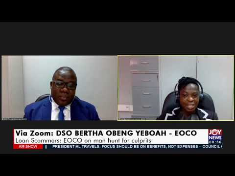 Loan Scammers: EOCO on manhunt for culprits - AM Show on Joy News (23-9-21)