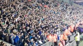 Chelsea Fans Celebrating Winning the League at West Brom
