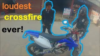 loudest crossfire in city | amazing crossfire ever seen | young rider | nepali motovllogers
