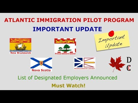 Atlantic Immigration Pilot Program Important Update | AIPP List of Designated Employers Announced
