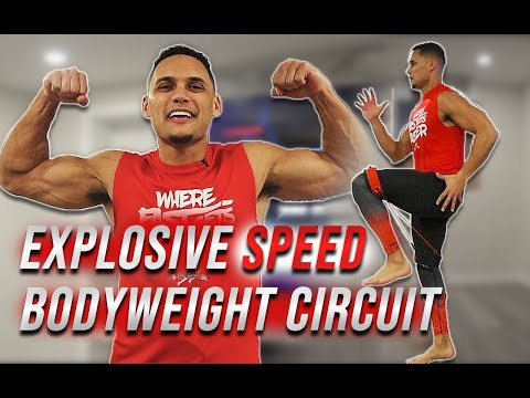 Top 10 Exercises At Home For Speed Training | Explosive Bodyweight HIIT Circuit