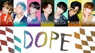 Download BTS (방탄소년단) - DOPE (쩔어) Color Coded Lyrics