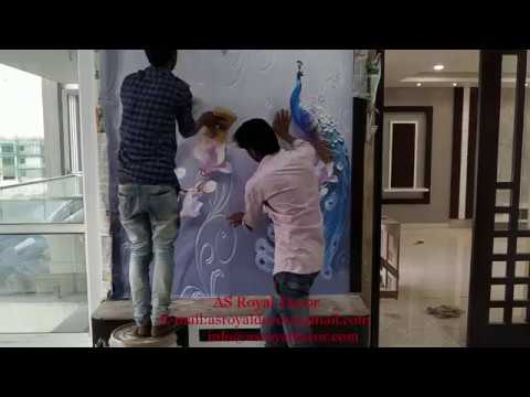 How To Install 3D Customized Wallpaper (AS Royal Decor)