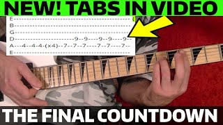 The Final Countdown - Guitar Lesson WITH TABS!