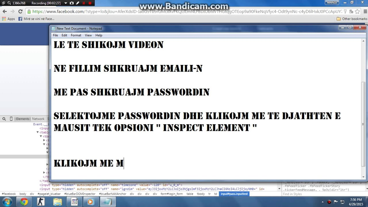 How to hack password with inspect element By : Armando - YouTube