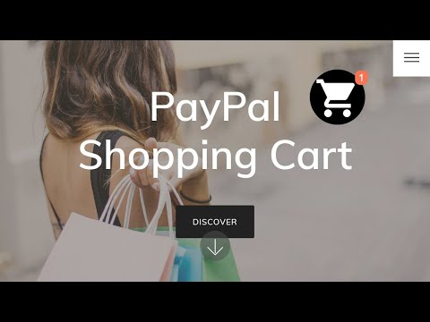 Mobirise PayPal Shopping Cart Extension
