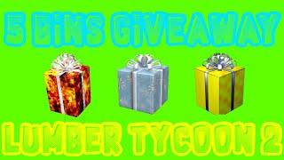 * GIVEAWAY * 5 Bins de Lumber Tycoon 2 presentes! | Roblox