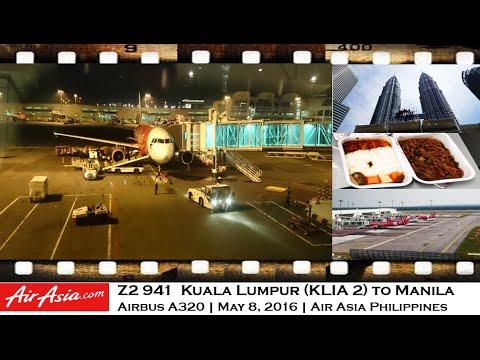 PHILIPPINES AIR ASIA Z2 941 KUALA LUMPUR KLIA2 TO MANILA AIRBUS A320