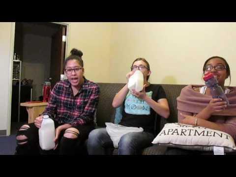 Three Girls One Gallon of Milk Challenge *VOMIT WARNING*