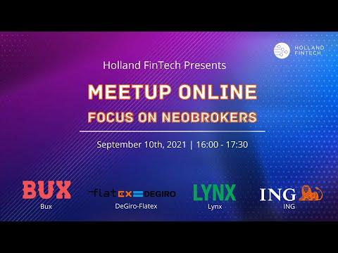 Holland FinTech Online Meetup September| Focus on Neo Brokers