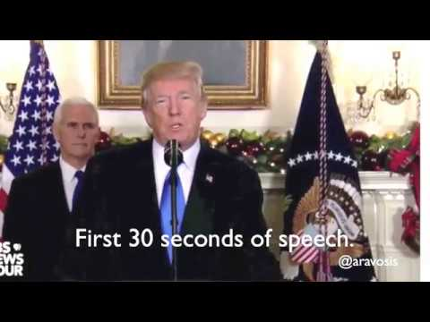 Trump's words slurred during Jerusalem speech - what happened?