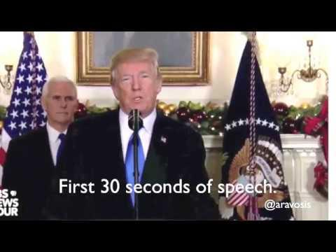 Trump's words slurred during Jerusalem speech - what happened?