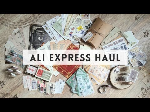 HUGE Ali Express Haul 2021 - Craft, Vintage Stickers, Paper Goods and Journaling Supplies!