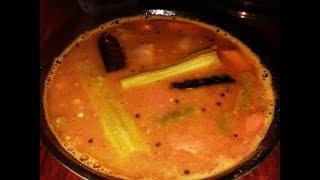How to make sambar in chatti ( claypot )/Easy sambar recipe in mud pot/manchatti sambar