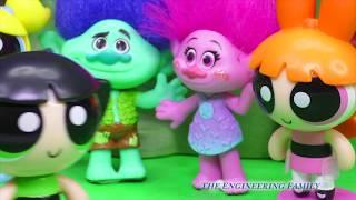 TROLLS and Cartoon Network Trolls Play Hide n Seek Poppy Plays with Powerpuff Girls Toy parody