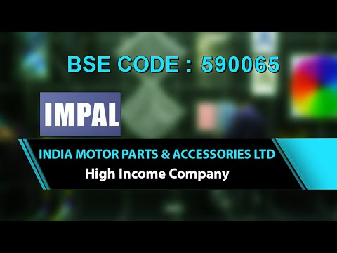 Indian Motor Parts & Accessories Ltd | High Income Company | Investing | Finance | Share Market