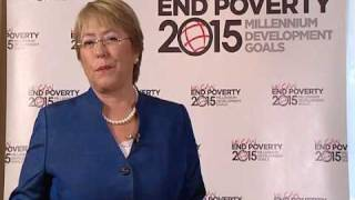 Michelle Bachelet -- Advocate for the Millennium Development Goals (English)