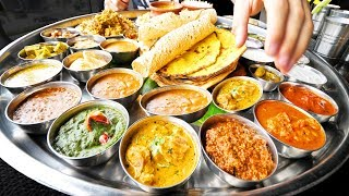 Enter CURRY HEAVEN - Mumbai's BIGGEST Thali (38 Items) + BEST Indian Street Food in Mumbai, India!