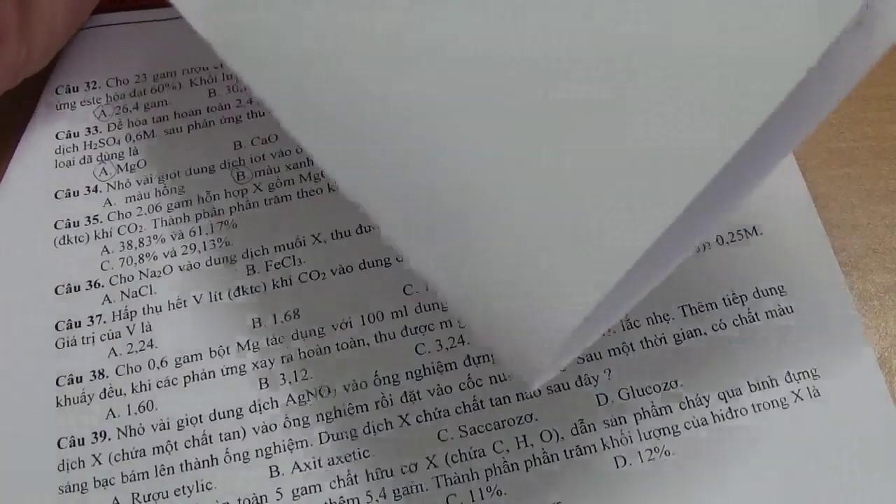 Hóa 9 – Chữa đề tham khảo thi vào 10 môn Hóa sở GD&ĐT Hà Nội (phần 4)