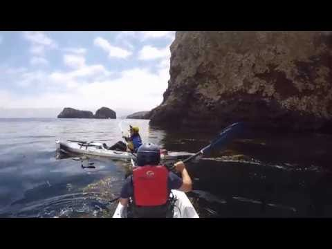 Kayaking at painted sea caves channel islands | GoPro video