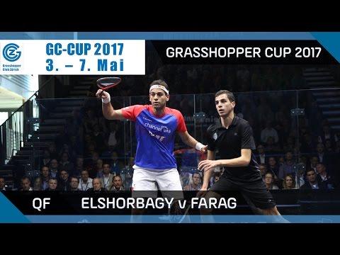 Squash: Mo. ElShorbagy v Farag - Grasshopper Cup 2017 QF Highlights