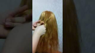 Как плести обычную косу ,видео урок!