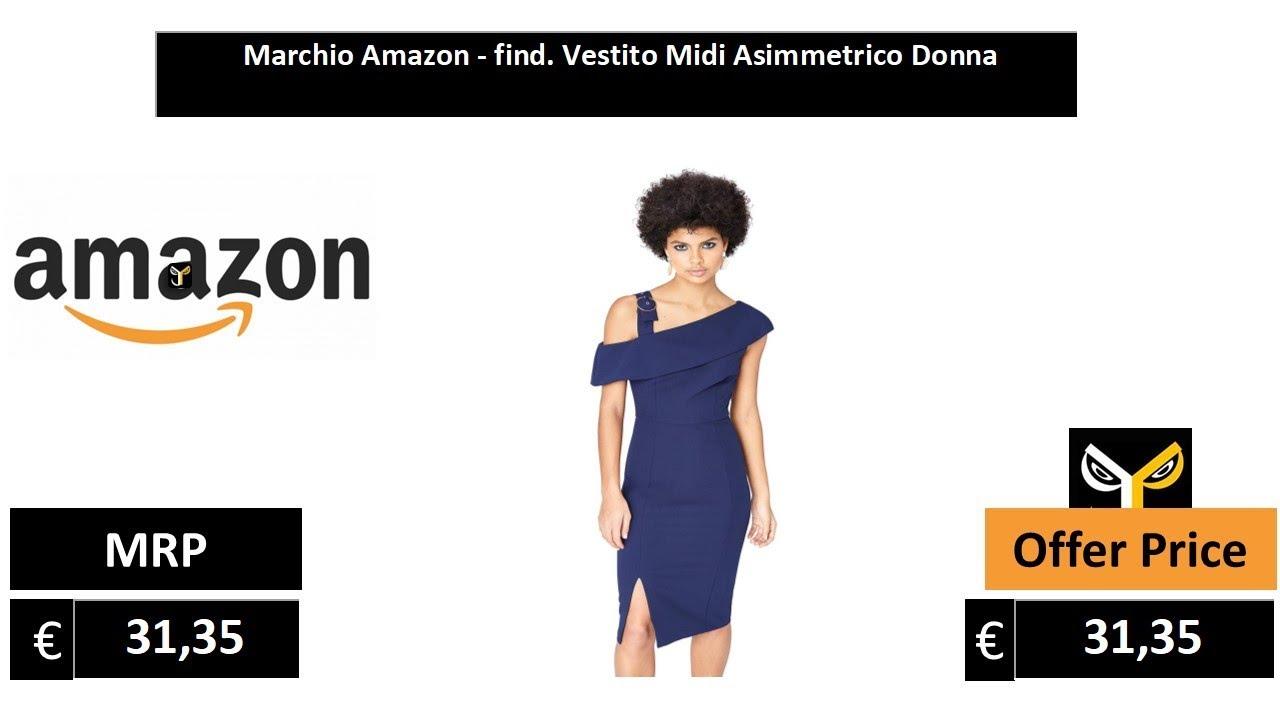 FIND Vestito Midi Asimmetrico  Donna
