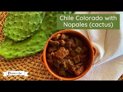 Chile Colorado with Cactus (Nopales)