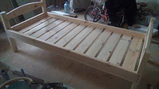 видео Как сделать кровать своими руками из дерева. 🔨Чертежи и схемы