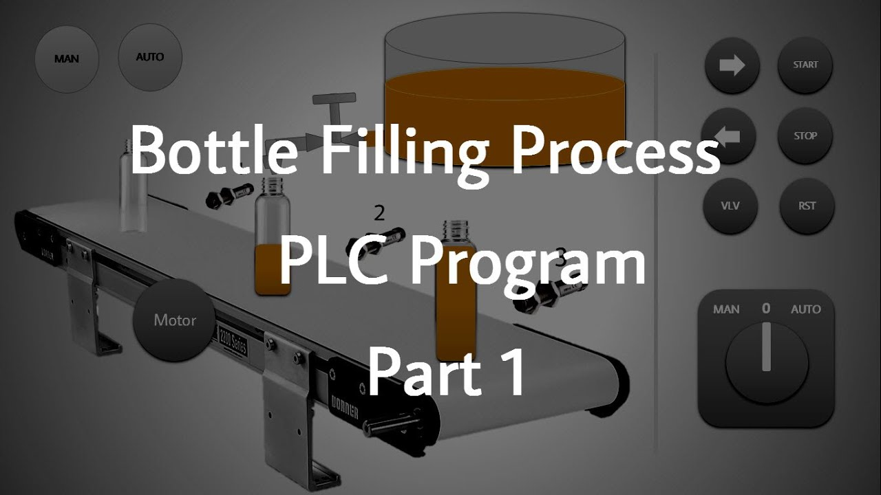Bottle Filling Process PLC Program _ Part 1 - YouTube