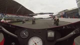 Onboard Start Due Valvole Ducati club races+ crash 2015