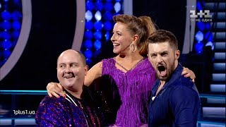 Elena Kravets, Maxim Leonov and Yuriі Tkach - Salsa - Dancing with the Stars 2019